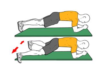 Plancha y apertura de piernas