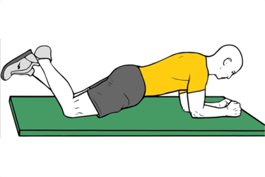 Plancha con apoyo de rodillas