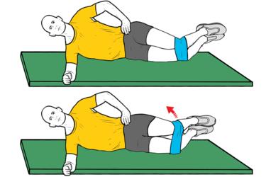 Plancha lateral con abducción de cadera