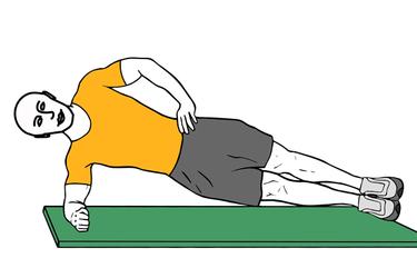Plancha lateral con apoyo de antebrazo