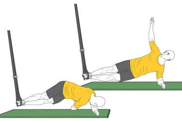 Plancha lateral con torsión con trx