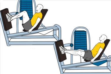 Prensa horizontal en maquina