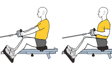 Remo horizontal sentado con polea