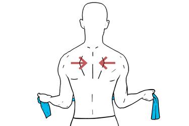 Retracción de hombros con banda elástica