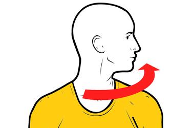 Rotación del cuello a la izquierda