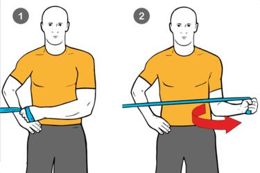 Rotación externa de hombro con cable-polea