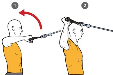 Rotación externa de hombro con cable-polea de pie