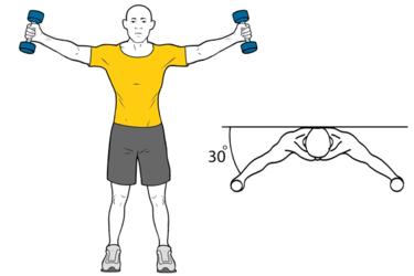 Elevación de hombros en el plano de la escapula