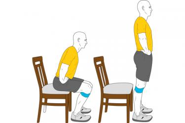 Sentarse y levantarse con miniband