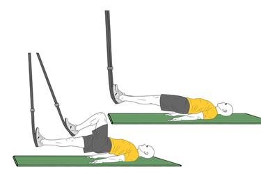Flexión de piernas como bicicleta con Trx