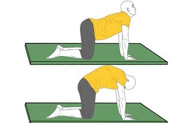 Yoga: Postura del gato y vaca