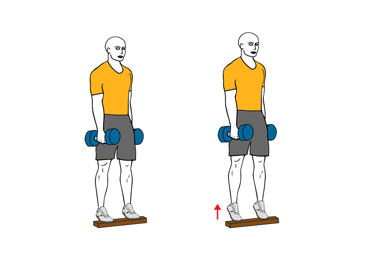 Elevacion de talon en press de pierna
